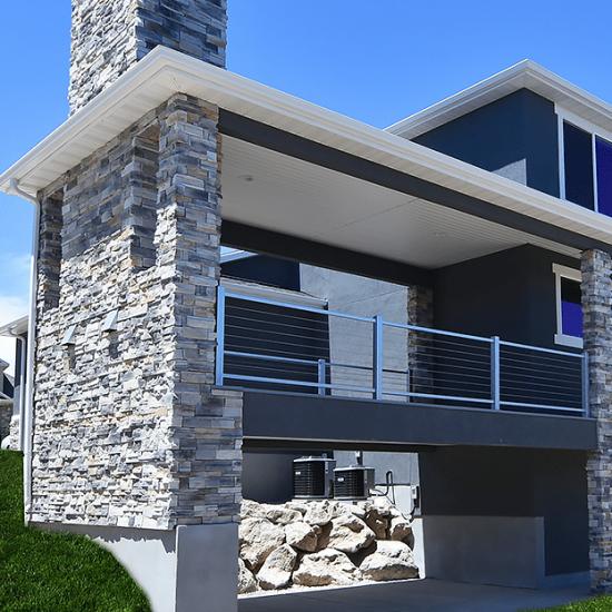 Custom Deck on 2-Story by Utah Builder; Lightyear; Lightyear Homes; Custom Home in Saratoga Springs, Custom Home Builder Utah