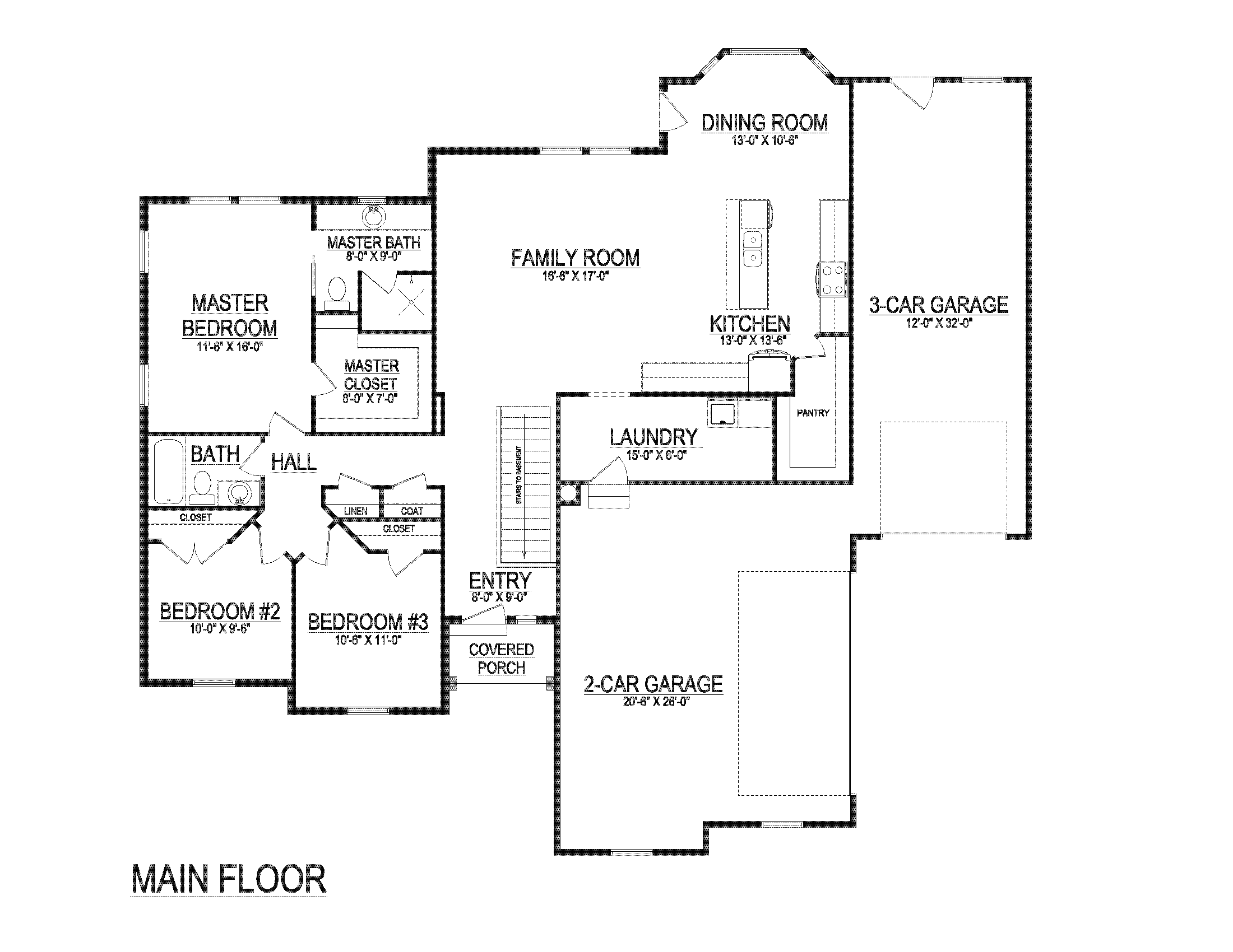 Karen House Plan Main Floor Lightyear Homes Utah