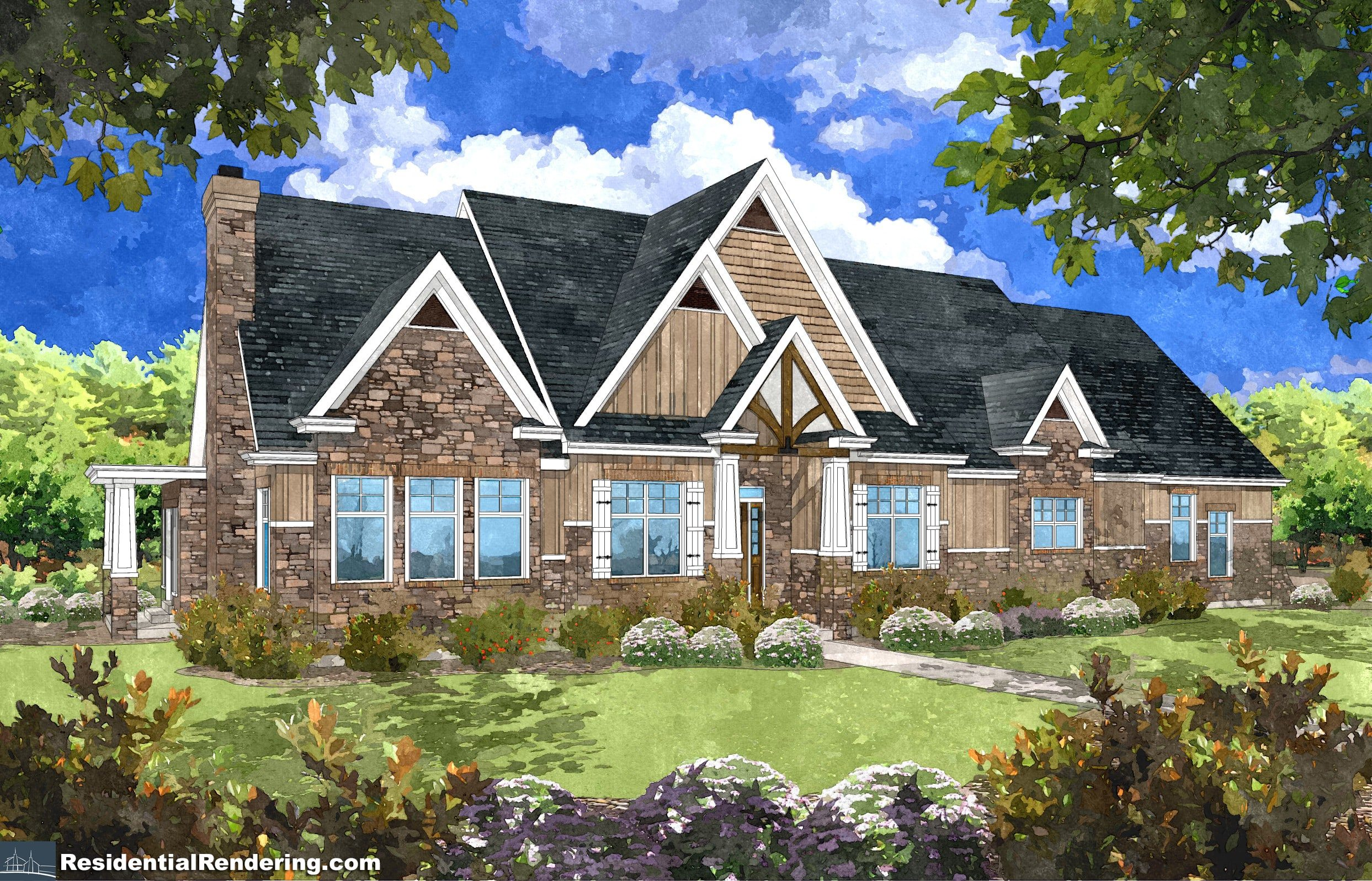 Katie home plan rendering 2 lightyear homes utah for Utah house plans with bonus room