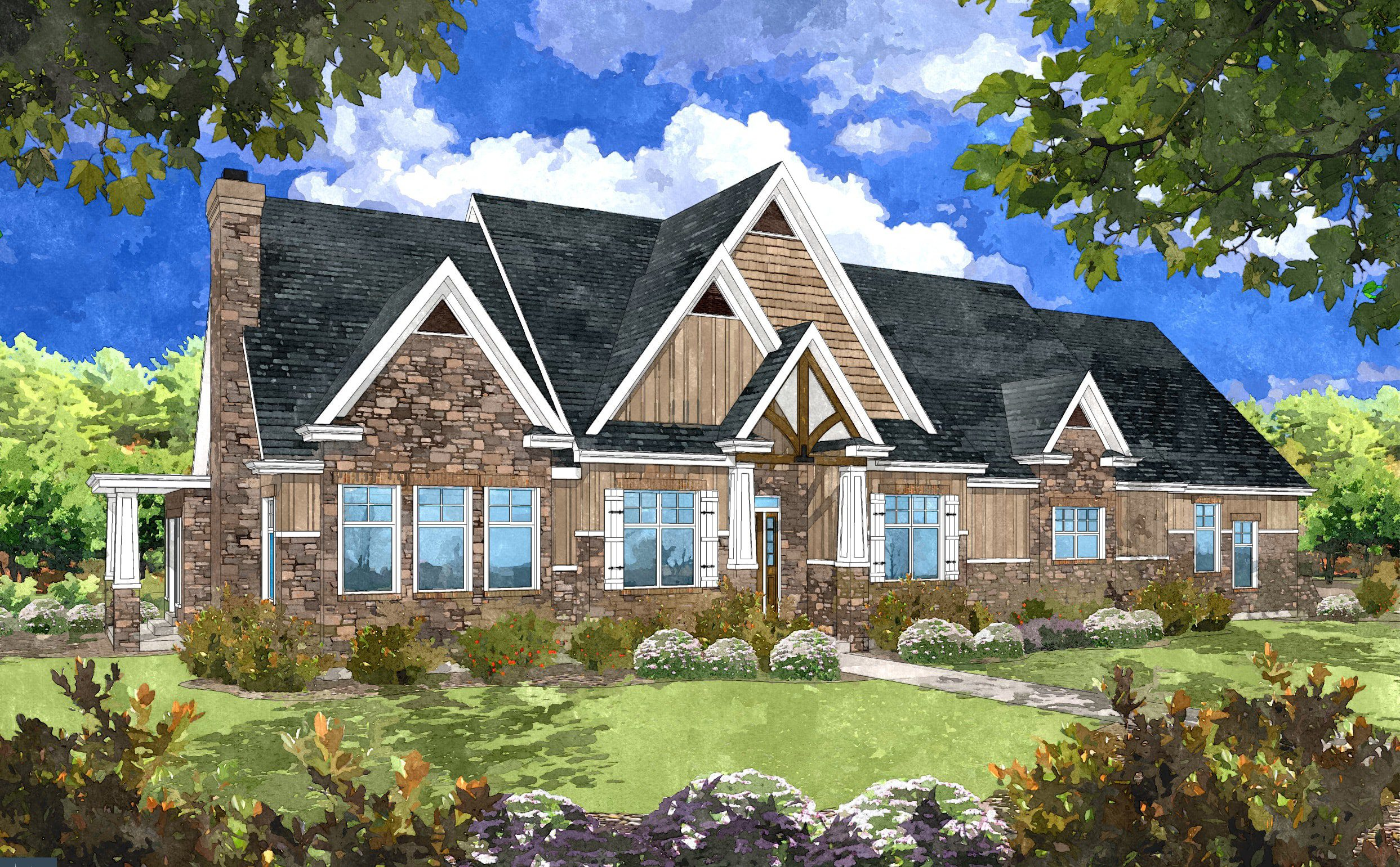 Katie Home Plan Rendering 2 Lightyear Homes Utah