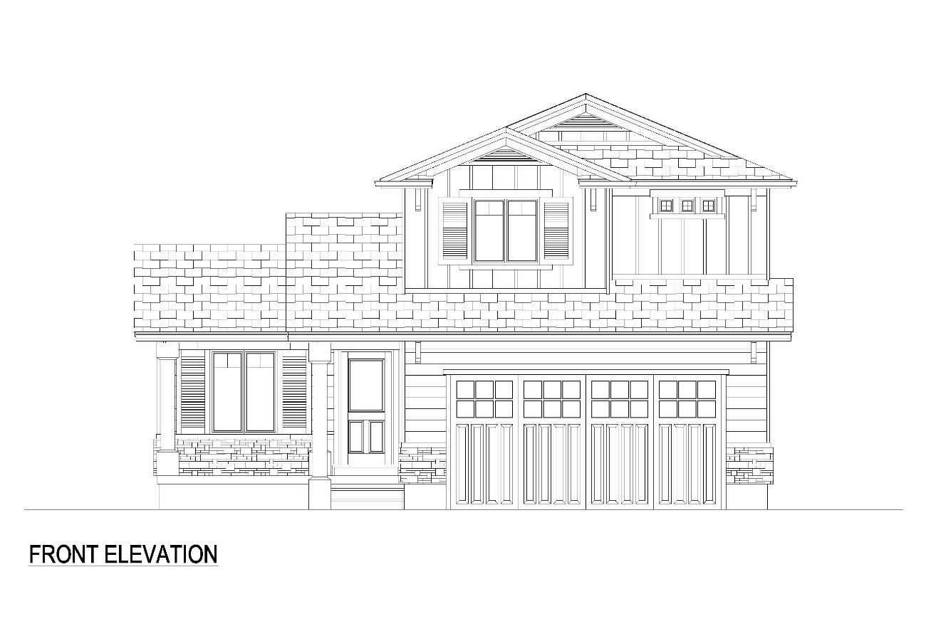 Angel FRONT ELEVATION Craftsman